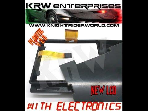 KRW Enterprises Kitt Karr 82 Knight Rider 2tv monitor plastic frame installing tips