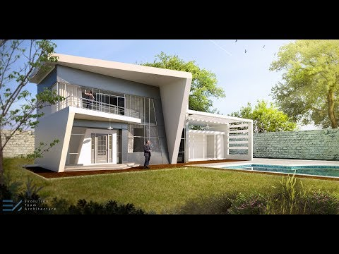 Modern Villa - Post Production | Photoshop - Real Time