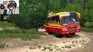 KSRTC Monster Off-Road Bus Driving | KSRTC Super fast bus | Euro truck simulator 2 bus mod