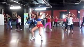 Zumba Cubaton at DAF Studio. Jenny de Guzman dancing Pitbull