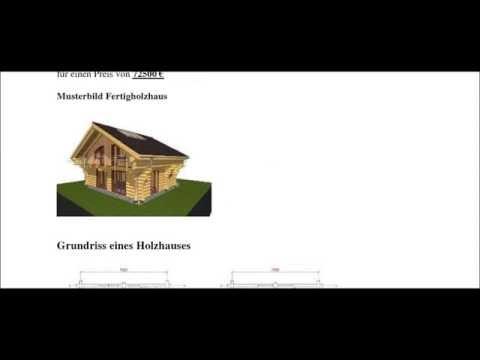 g nstige holzh user fertigh user und fertigholzh user youtube. Black Bedroom Furniture Sets. Home Design Ideas