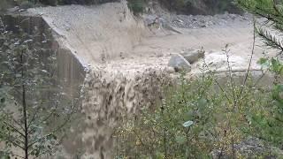 Illgraben 09. 10. 19. Crue et lave. Flut und Schlammlawine. Flood an debris flow.