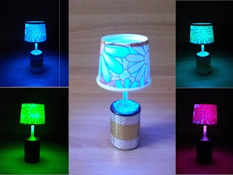 DIY LED table / night lamp with easily available and cheap materials