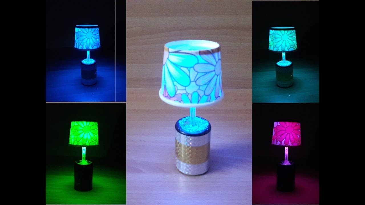 DIY LED table / night lamp with easily available and cheap ...
