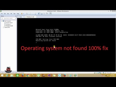 VMware - Operating system not found 100% fix