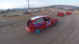 Drone Stock Car Chase