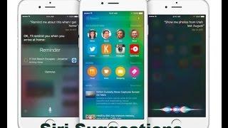 Turn Off Siri Suggestions On IOS 9