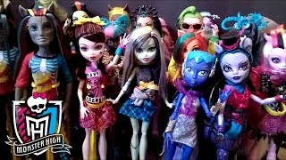 MY MONSTER HIGH DOLL COLLECTION!!