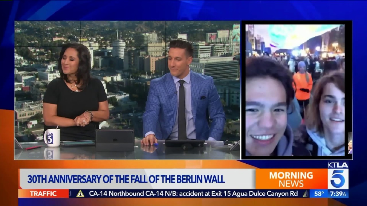 Sebastian Buckley Speaks To Ktla Live On 30th Anniversary Of Fall Of The Berlin Wall Youtube