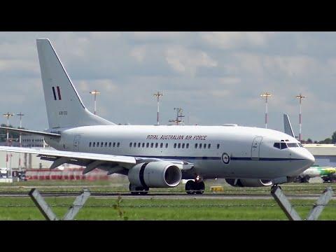 Royal Australian Air Force | VIP Boeing 737 | Landing at Hamburg Airport