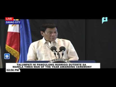 Pagdalo ni Pres. Duterte sa Manila Times 5th Business Forum sa Marco Polo Hotel, Davao City