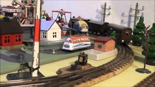 Spielzeug-Blecheisenbahn, Vintage Tinplate-Layout (Märklin, Trix, ...)