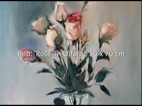 Rosen malen. Blumen malen. Tatiana Siekmann. Malkurs.