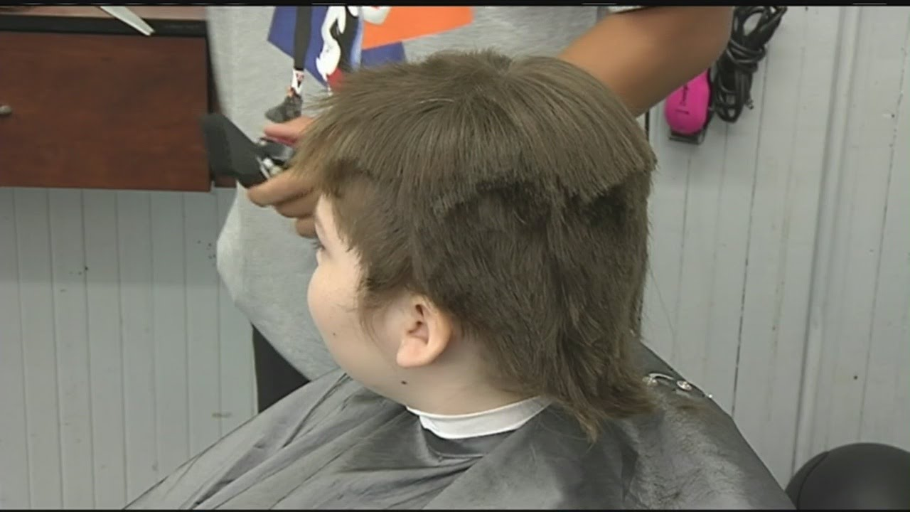 10 Year Old Boy Got His Long Hair Cut For Charity Youtube