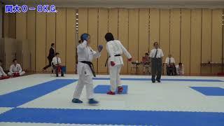 森田紗耶加(関西学院2年)-関西大学 平成29年関関同立空手道定期戦 2...