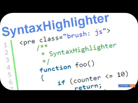 How To Install & Use SyntaxHighlighter In Html