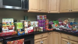 huge large family costco grocery outlet haul mostly organic prices included
