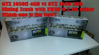 GTX 1050ti 4GB vs GTX 1050 2GB (Mining Zcash with EWBF miner)