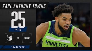 Karl-Anthony Towns racks up 25 PTS for Timberwolves vs. Pelicans