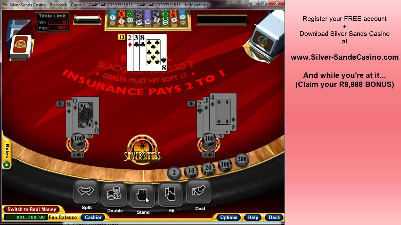 silversands online casino sign up