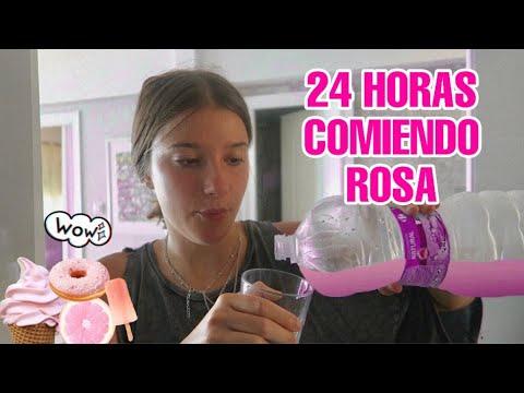 24 HORAS COMIENDO ROSA *RETO*  Marru