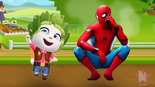 spiderman vs my talking angela cowboy