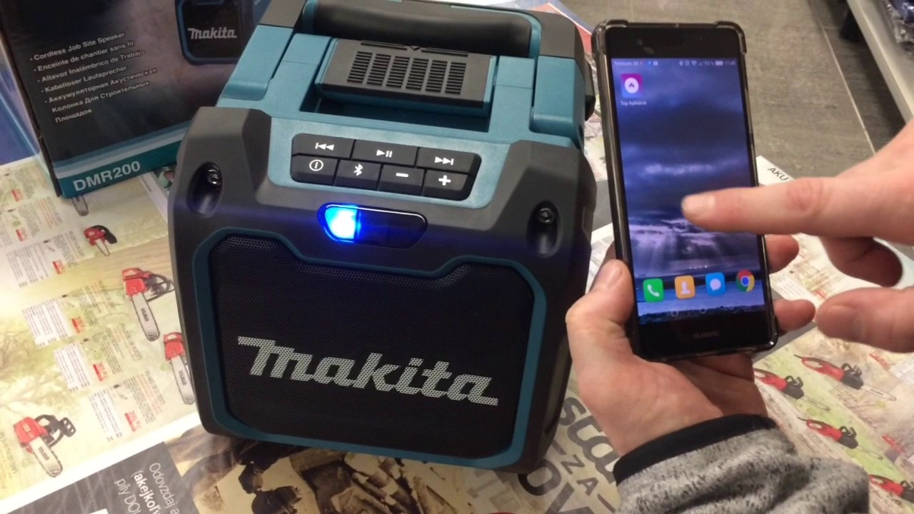 makita reproduktor dmr 200 bluetooth repro reproductor. Black Bedroom Furniture Sets. Home Design Ideas