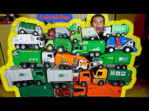 Tonka Toy Trucks >> Huge Garbage Truck Toy Collection - Toy Trucks for Children - YouTube