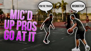 Mic'd Up At The Park Vs An Overseas Pro Hooper!