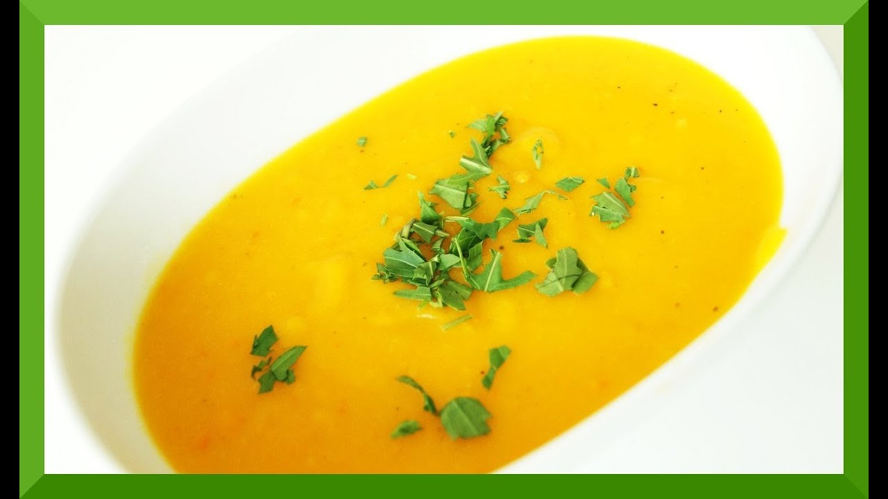 Kürbissuppe Rezept mit Hokkaido Kürbis - YouTube