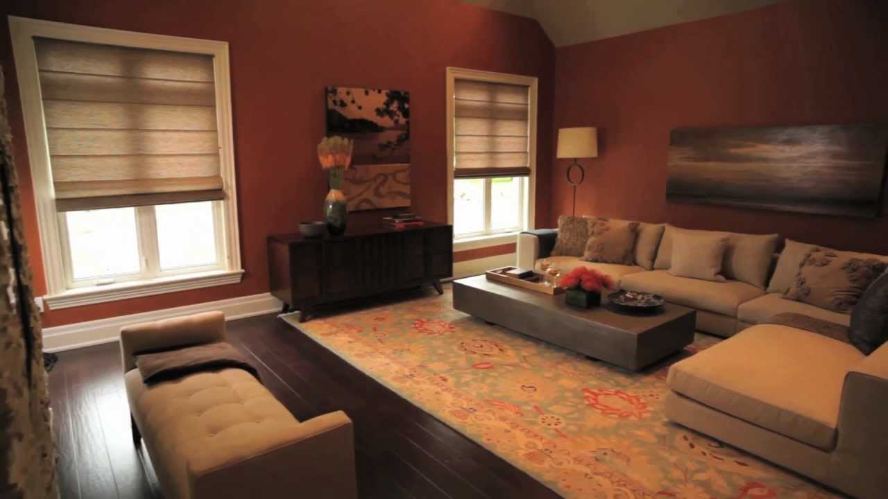 Salon Marron Chocolat Couleurs Tendance 2012 - Benjamin Moore - Salon.mov - Youtube