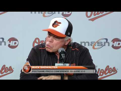 Buck Showalter after the Orioles' loss to the Indians