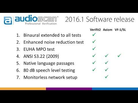 Audioscan software update 2016.1