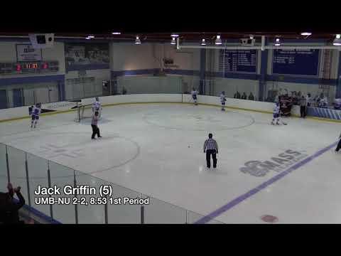 UMass Boston Men's Hockey vs Norwich University (1/27/18) Highlights