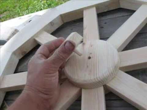 Чертеж деревянные колеса своими руками