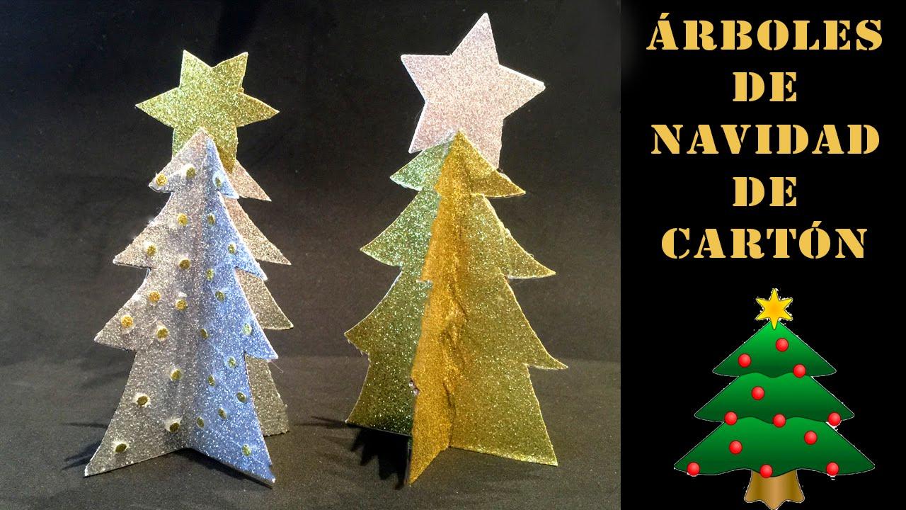 C mo hacer un rbol de navidad de cart n o papel youtube for Arbol de navidad con cajas de carton