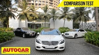 Mercedes-Benz S-Class Vs Rolls-Royce Ghost Vs Bentley Flying Spur | Comparison Test | Autocar India