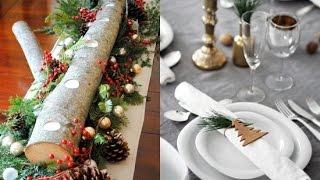 Украшение стола к Новому году Своими Руками + DIY Подсвечник