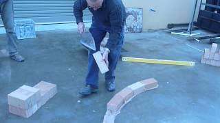 Laying A Brick Curve