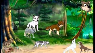 В Мире Животных   Как говорят животные   Волк с волчатами  живые звуки