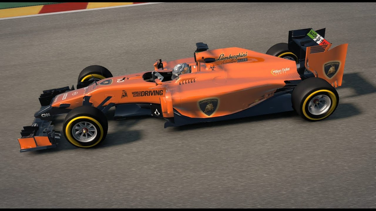 Lamborghini Formula 1 Car F1 2014 Game Spa Youtube