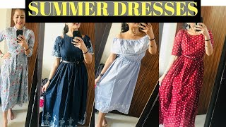 Myntra Summer Midi Dress Haul - Part 2 For Offices + GIVEAWAY WINNER