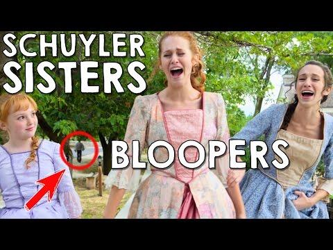 Schuyler Sisters Bloopers/Gag Reel in Real Life