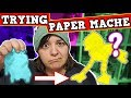 I TRY PAPER MACHE FOR THE FIRST TIME - Slimey Mess DIY Craft