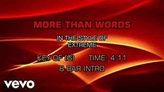 Extreme - More Than Words (Karaoke)