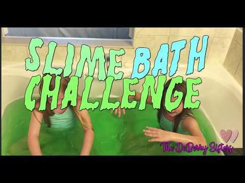 Slime Bath Challenge by DB Sisters