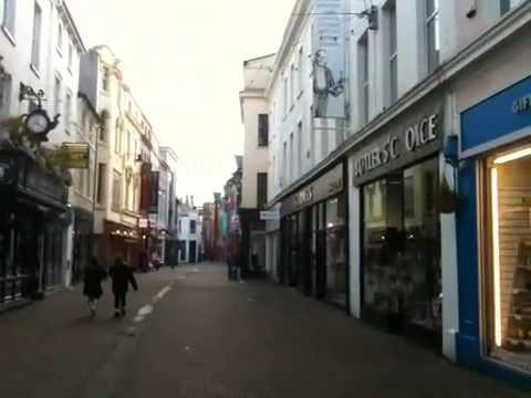 The Shopping District in Douglas, Isle of Man, UK