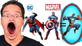 🤔Como Seria a Fusão dos Personagens da MARVEL & DC???🤔