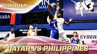 Philippines challenge Qatar till the end in the Quarter-Finals - Full Game - Asia Cup U18 - FIBA 3x3