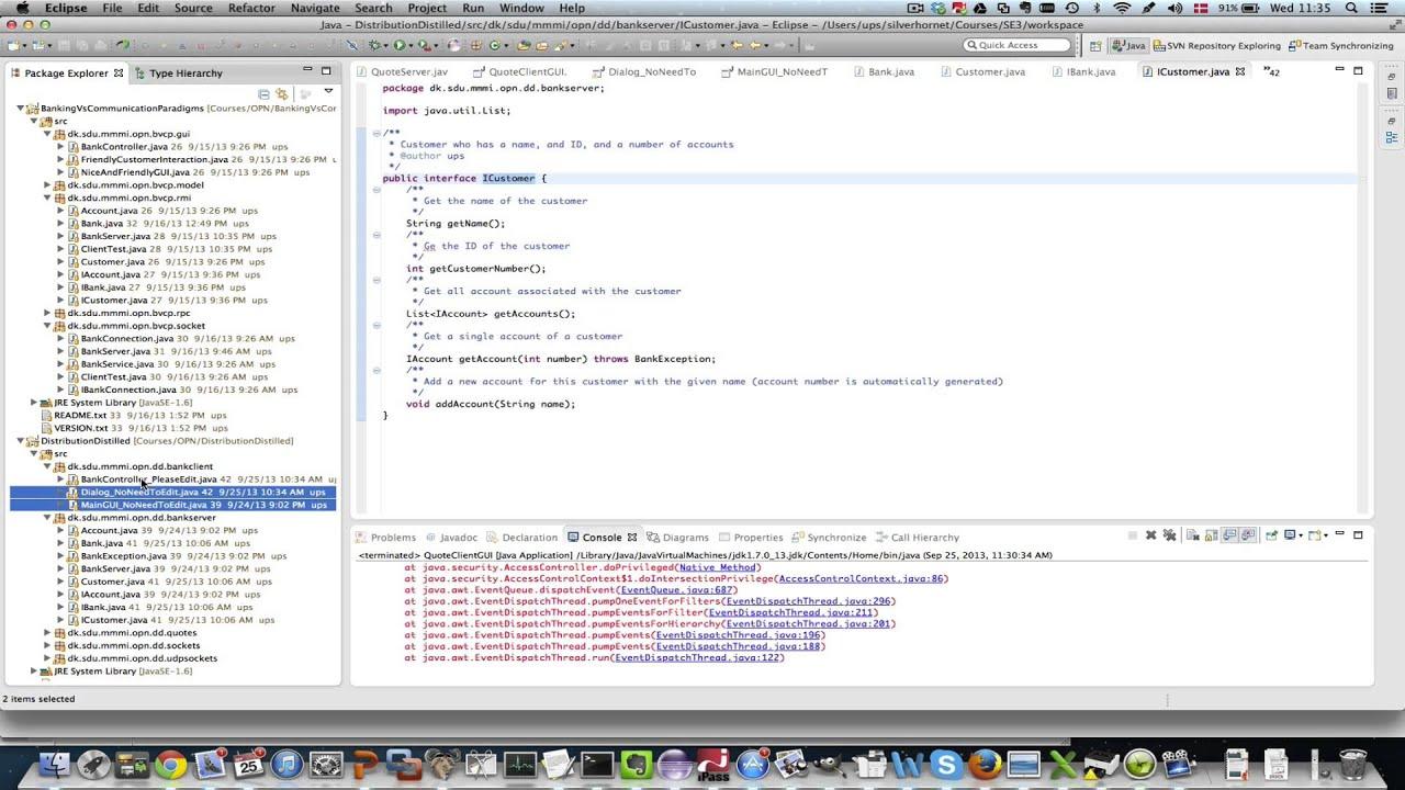 Gennemgang af kode: bank eksemplet - YouTube
